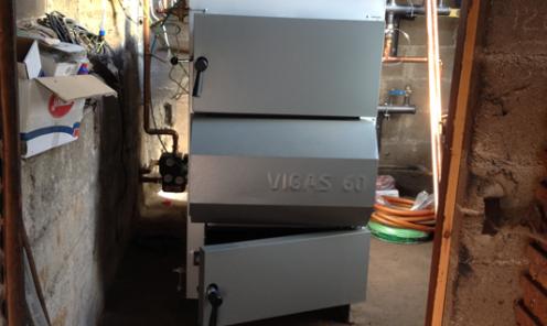 caldera leña 60 kW